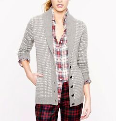$585 J Crew Collection Cashmere Shawl Cardigan Sweater; S