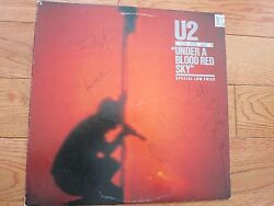 U2 signed vinyl record by all 4 members JSA coa + Proof! Bono Edge Adam Larry LP