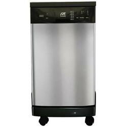 SUNPENTOWN SD-9241SS 18 in. Portable Dishwasher Stainless Steel