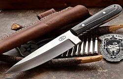 CFK USA Custom Handmade D2 Large OUTDOORS KITCHEN FRENCH CHEF Camping EDC Knife