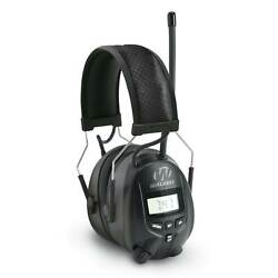 Walkers Hearing Protection Over Ear AMFM Radio Earmuffs with Display  GWP-RDOM