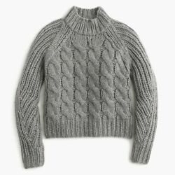 NWT J CREW Collection Italian Cashmere Mohair Cable Sweater XL