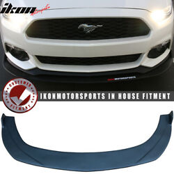 Fits 15-17 Ford Mustang Front Bumper Lip Under Splitter Unpainted PP $165.93