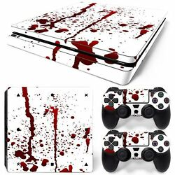 Bloody Horror PS4 Slim Console & 2 Controllers Decal Vinyl Art Skin Wrap Sticker