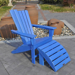 Panama Jack Outdoor Adirondack Chair and Ottoman Set