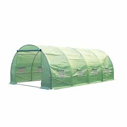 Outsunny 20' x 10' x 7' Portable Walk-In Garden Greenhouse - Deep Green