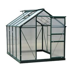 Outsunny 6'L x 8'W x 7'H Polycarbonate Portable Walk-In Garden Greenhouse