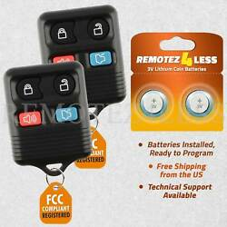2 For 2000 2001 2002 2003 2004 Ford Mustang Keyless Entry Remote Car Key Fob $7.87