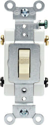 Leviton Commercial 20 amps 120 277 volts Double Pole Toggle Switch Ivory