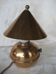 Beautiful Art Deco Copper Chase Lamp 8 12