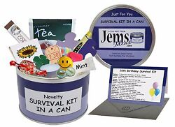 16TH BIRTHDAY Survival Kit In A Can. Fun Novelty Teenage Teenager Gift amp; Card GBP 11.95