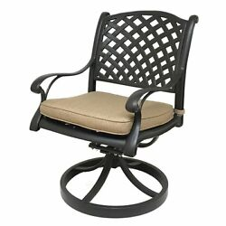 Darby Home Co Beadle Swivel Rocking Chair with Cushions Set of 2
