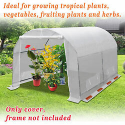 White Outdoor Green House Walk In Planting Gardening Greenhouse Cover