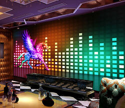 3D Music Frequency Beat Horse Wall Paper Wall Print Decal Wall Deco AJ WALLPAPER