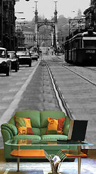 3D Black and white city 056 Wall Paper Wall Print Decal Wall Deco AJ WALLPAPER