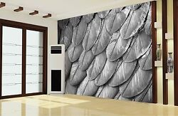 3D Numerous gray feathers 786 Wall Paper Wall Print Decal Wall Deco AJ WALLPAPER