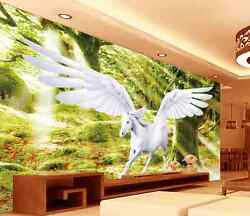 3D Sunshine Forest Horse Wall Paper Wall Print Decal Wall Deco AJ WALLPAPER