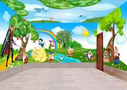 3D Snow White Forest Tree Sky Wall Paper Wall Print Decal Wall Deco AJ WALLPAPER