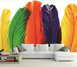 3D Colorful feather view 0290 Wall Paper Wall Print Decal Wall Deco AJ WALLPAPER