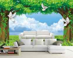 3D White Birds And Big Trees 35 Wall Paper Wall Print Decal Wall AJ Wall Paper