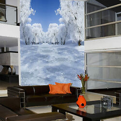 3D Beautiful Silver White Trees 3 Wall Paper Wall Print Decal Wall AJ Wall Paper