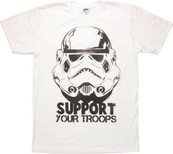 Mens Star Wars Stormtrooper Support Your Troops Shirt New M L 2XL $7.99