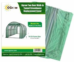 OGrow Two Door Walk-In Tunnel Greenhouse Replacement Shade cloth and cover