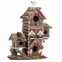 Gingerbread Style Multi Level Birdhouse Outdoor Garden Yard Retreat Home Decor