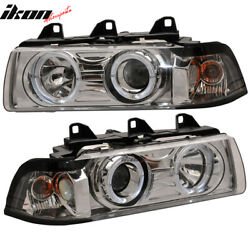 Fits 92-98 BMW E36 4Dr Sedan Halo Projector Headlights Lamps