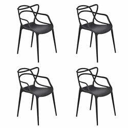 New Set of 4 Masters Dining Chairs Modern Design Armchair Indoor Outdoor
