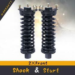 Pair(2) Front Complete Shock Strut Coil Spring wMount For 2002-12 Jeep Liberty