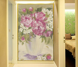3D Red and white flowers 1344 Wall Paper Wall Print Decal Wall Deco AJ WALLPAPER