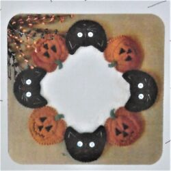 JACKS AND CATS!  PATTERN WOOL FELT PENNY RUG CANDLE MAT CATH'S PENNIES  NEW