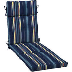 Patio Chaise Lounge Cushion Reversible Chair Replacement Outdoor Pool Deck Cover