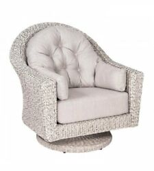 Woodard Isabella Swivel Lounge Chair With Cushions