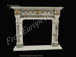 HAND MADE SOLID MARBLE VICTORIAN STYLE EUROPEAN DESIGN FIREPLACE MANTEL FPM33