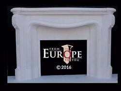 HAND CARVED SOLID MARBLE EUROPEAN DESIGN FIREPLACE MANTEL - DH1