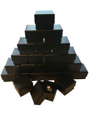 Wholesale Black Ring Gift Box with Foam and Velvet Insert 1.5 x 1.5 x 1.25 Inch $11.99