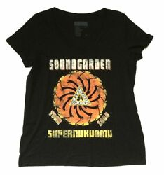 Soundgarden Superunknown Tour 1994 Women Plus Black T Shirt New Official $23.99