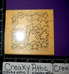STARS DOTS OPEN DESIGN SKY RUBBER STAMP ANITAS $4.73