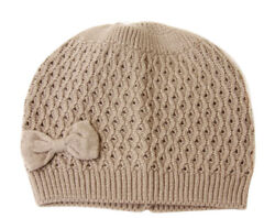 Fashion Knit Beanie With Bow Attached (4 in one pack Comes in 4 colors)
