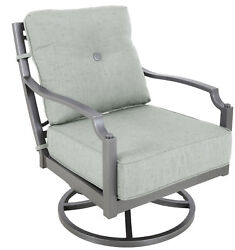 Konevsky Aluminum Outdoor Deep Seating Swivel Patio Chair with Cushion Set of 2