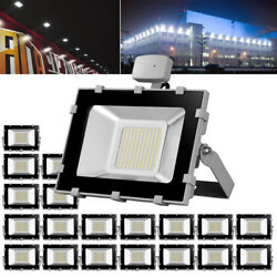 20X 100W Cool White Motion Sensor LED Floodlight Outdoor Security Court Lighting