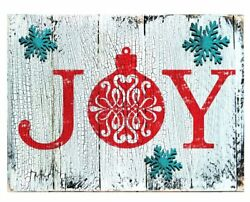 Designocracy Joy Decorated Vintage Christmas Wall Décor