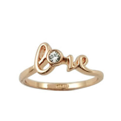 Fashion Jewelry - 18K Rose Gold Plated Love Ring (FR274)
