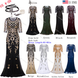 Mermaid Costume 1920s Flapper Gatsby Party Long Evening Maxi Cocktail Dress Gown $39.95
