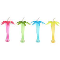 Tropical Palm Tree Luau Yard Cup Summer Beach Party Drinks Juice Cup $7.70