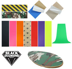 Black Diamond Longboard Skateboard Grip Tape Sheet 10