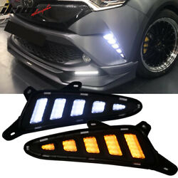 Fits 17-18 Toyota CHR C-HR DRL Side Signal Lights W Switchback Function