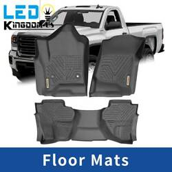 Floor Mats Liner for 2014 2018 Chevy Silverado GMC Sierra All Weather Protection $86.44
